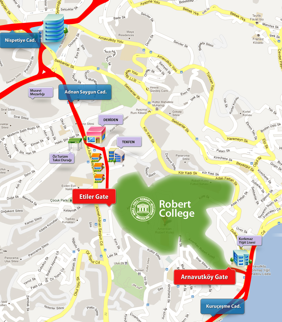 Directions to Robert College